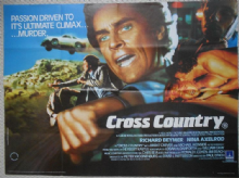 Cross Country, Original UK Quad Poster, Michael Ironside, Richard Beymer, '83